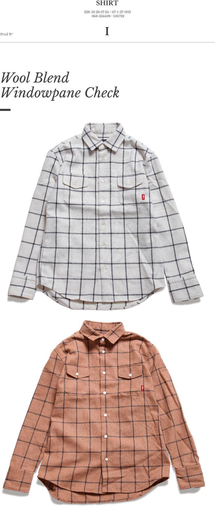 シュルリアル ウィンドペンチェック ウールシャツ