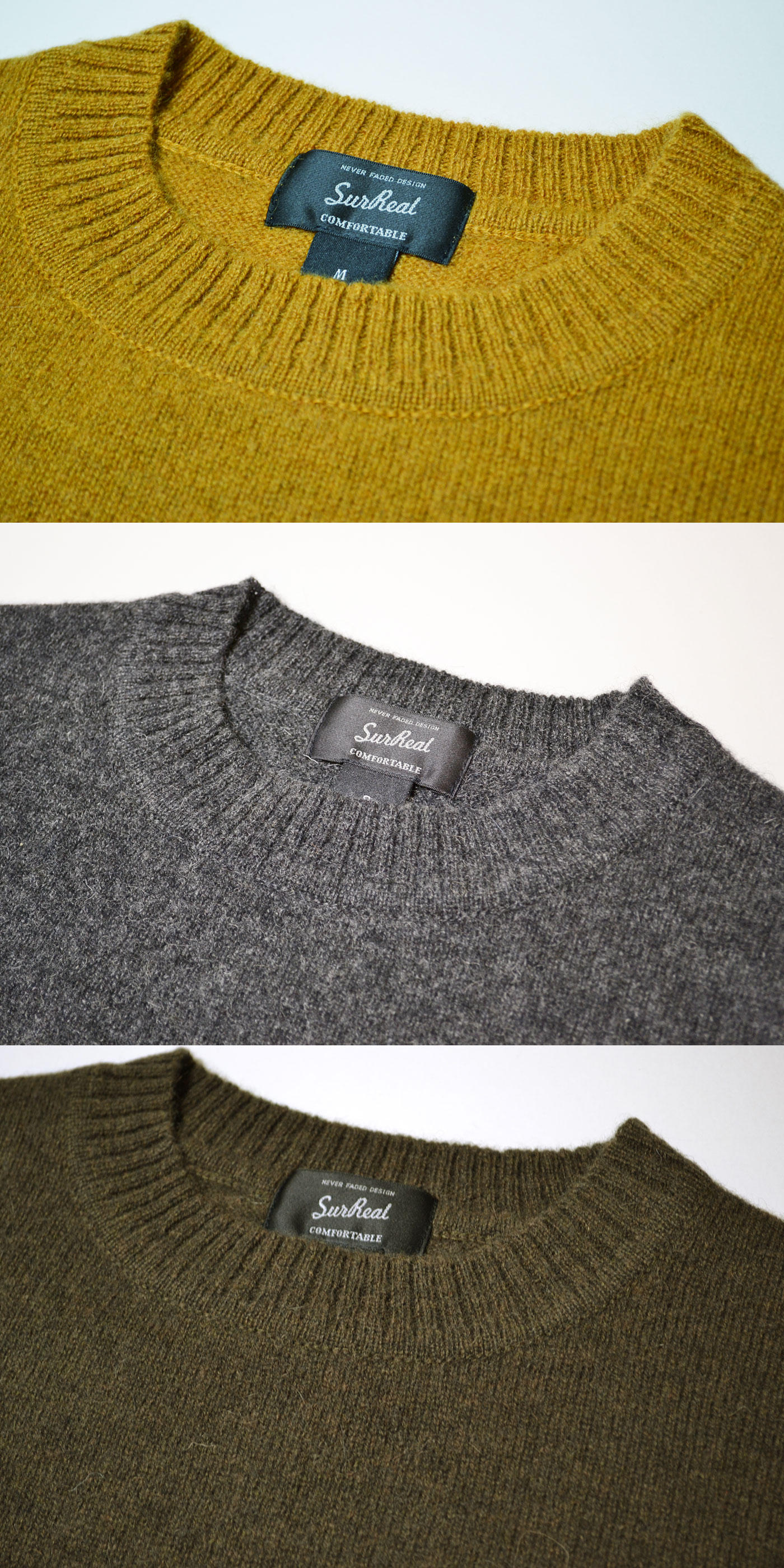 YASU シュルリアル シープスメア ウール セーター